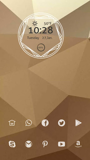 褐色大三角不对称主题