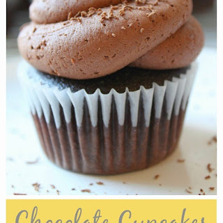 Chocolate Cupcakes with Dark Chocolate Buttercream.
