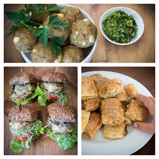 Turkey, Lemon And Feta Mini Meatballs, Baby Burgers Or Sausage Rolls