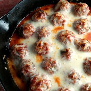 Baked Meatballs with Mozzarella