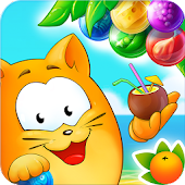 Bubble Cat Adventures: shoot and pop the bubbles!