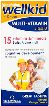 Vitabiotics Wellkid Multi Vitamin Liquid - Orange, 4-12 Year, 150ml