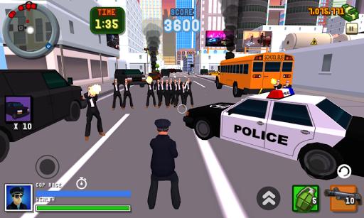 サンアンドレアス怒っ警官3D市