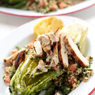 Grilled Chicken Caesar Tabbouleh Salad