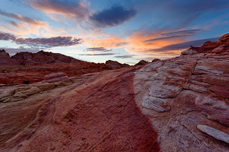 Photo: Blue vs Red States, Valley of Fire, NV#landscapephotography  #photographyworkflow  #photographytips I thought that I would put this photograph from Valley of Fire to celebrate the US elections. Valley of Fire has an amazing geology and if you get conditions right you can get some intense colors. On this particular day, I had my 13 year old with me and we went out wandering into the Red Zone to find some interesting patterns.How was this photograph created?I broke up the composition of the photograph into three sections. Each placed using the Rule of the thirds. The sky was filled with the the little color that was present at the time. Because the terrain was uneven use of GND filter was not possible so I had to rely on our iHDR manual blending workflow to create this image.Enjoy & Share._______