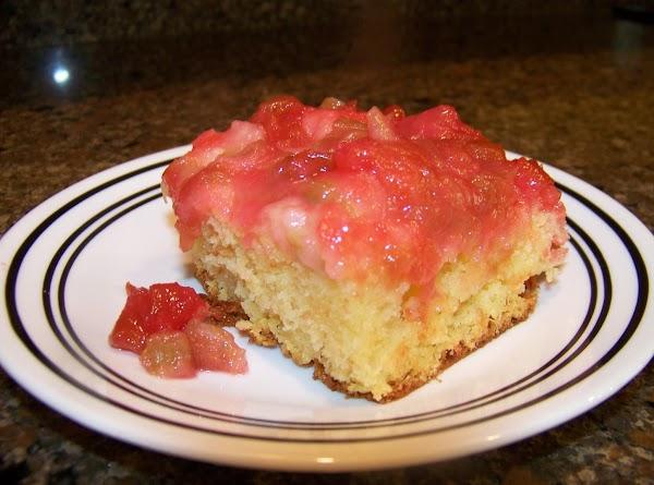 Rhubarb Upside-down Cake Recipe