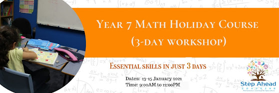 Year 7 Math Holiday Course (3-day workshop)