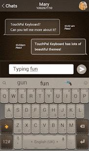 ecfd3109512 TouchPal Leather Theme screenshot; TouchPal Leather Theme screenshot ...