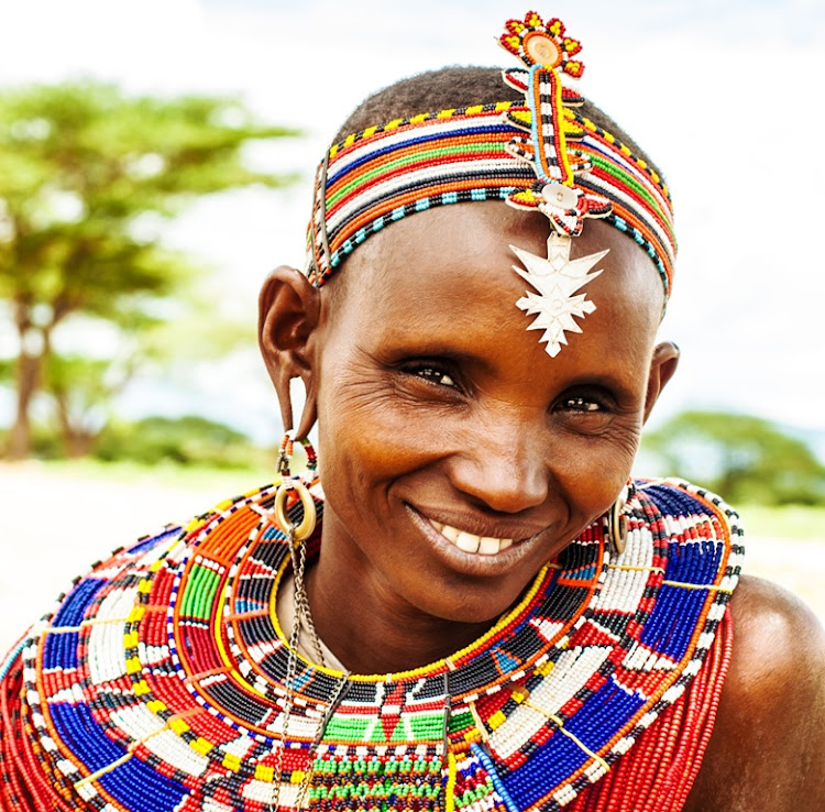 Necklaces and earrings in traditional Kenyan cultures denote messages about marriage and childbearing.