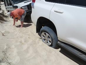 Photo: Oh no, Fish has de-rimitated his new truck ...