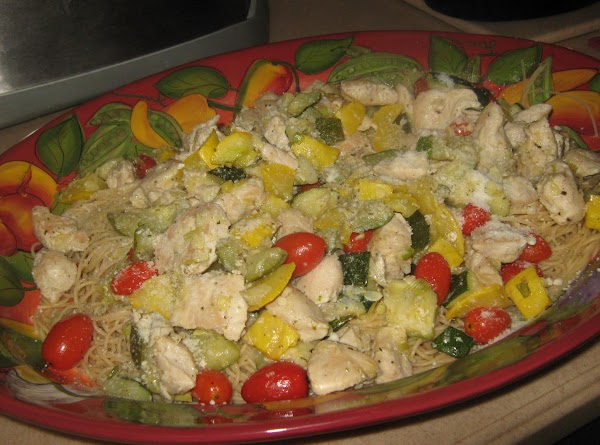 Angel Hair Pasta W/chicken & Vegetables Recipe