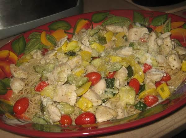 Angel Hair Pasta W/chicken & Vegetables