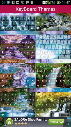 Air Terjun Keyboard theme
