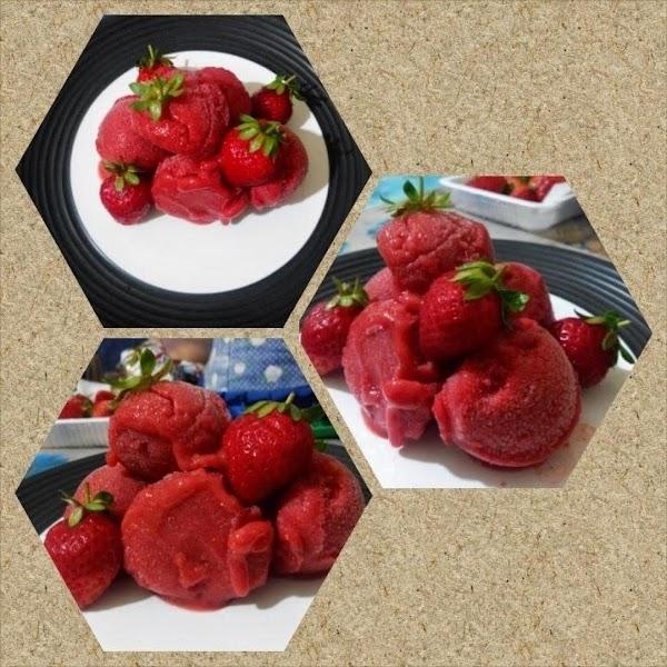 Strawberry Sorbet (a Dietary Ice Cream) Recipe