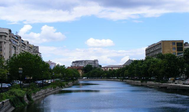 Dambovita River in Bucharest Romania