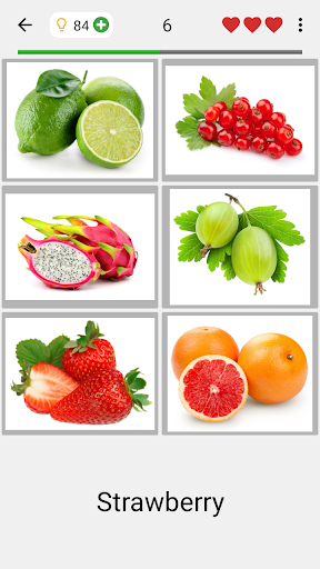 Fruit and Vegetables, Nuts & Berries: Picture-Quiz 3.0.0 screenshots 2