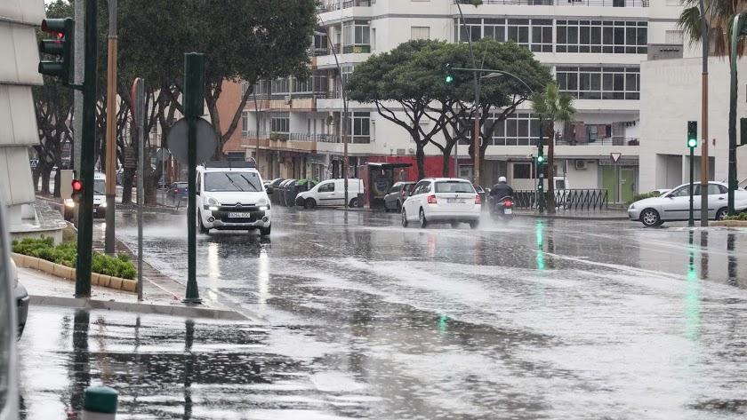 Lluvia en Almería capital.