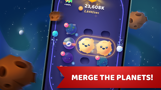 Moonies - Fusionne des planètes, crée tes galaxies  captures d'écran 1
