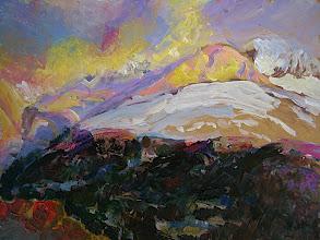 Photo: Atardecer en Mandilar, 38x50 cm, acrílico s/tabla, 2005, 320 €
