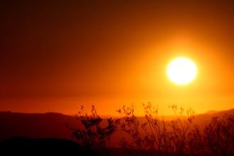 Photo: Night falls in the desert