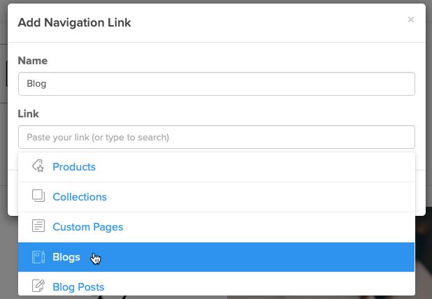 Add navigation link