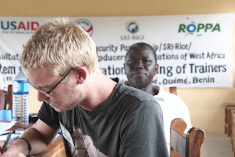 Photo: Photo from a May 2013 West Africa SRI Training of Trainers held in partnership with the United States Peace Corps in Oueme, Benin. [Photo by Devon Jenkins, Benin, 2013]