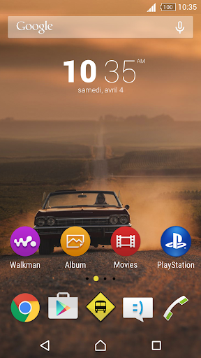 Road Trip theme for Xperia