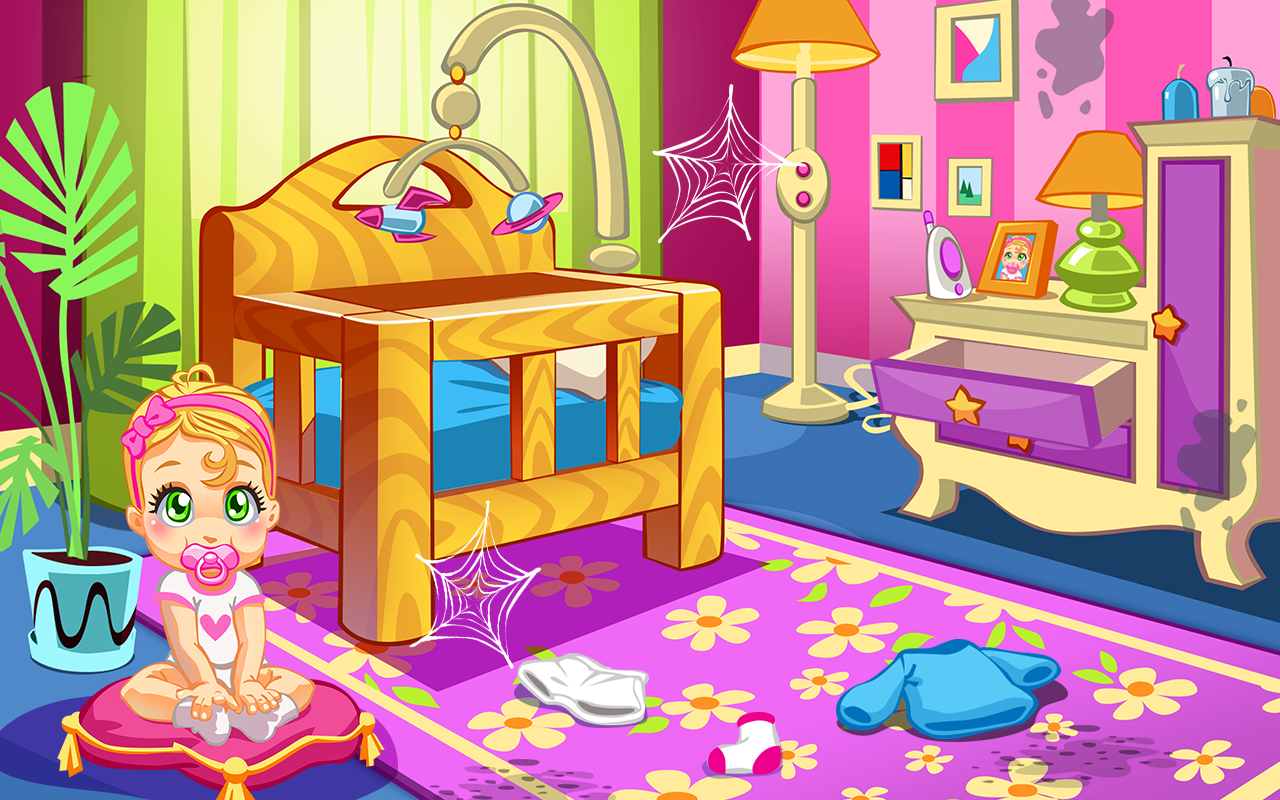 baby doll house cleaning game screenshot