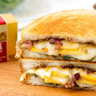 Ultimate Grilled Swiss with Bacon Peach Jam.