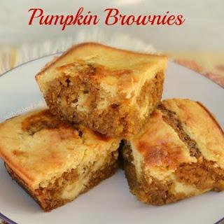 Cheesecake Swirled Pumpkin Brownies Recipe