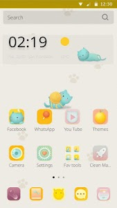 Lazy Cat Theme screenshot 1
