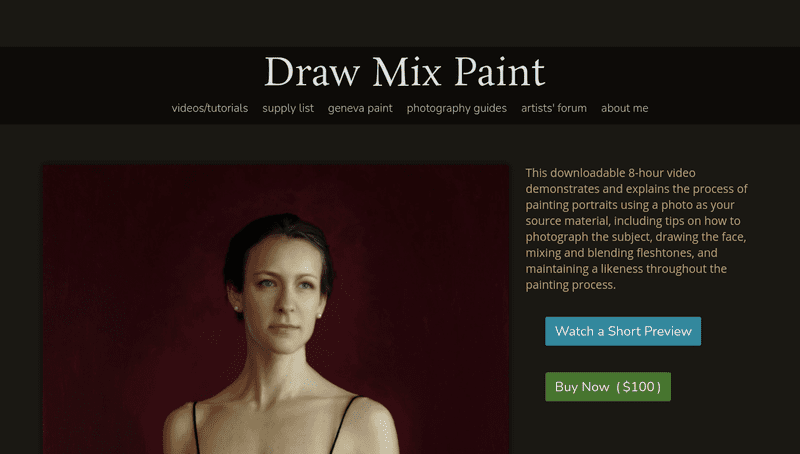 Draw Mix Paint is the teaching platform for highly acclaimed artist Mark Calder. It features a lot of insightful and free tutorials.