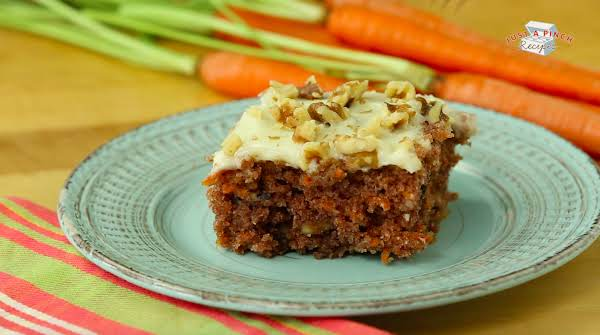 Piece Of Carrot Cake On A Plate