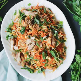"Paleo Asian Chicken ""Noodle"" Salad."