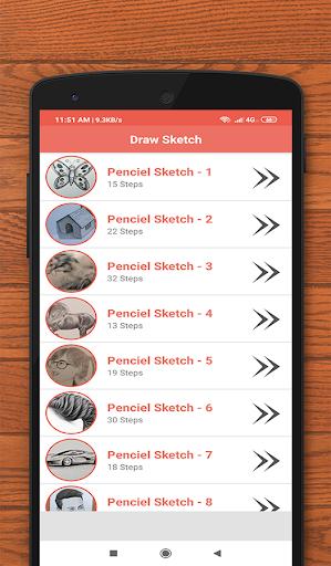 How to Sketch - Penciel Sketch  Drawing ideas 3.0 screenshots 1