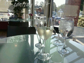 Photo: Grateful for a sunny, pleasant evening with a friend having wine in a place I used to go to so long ago.