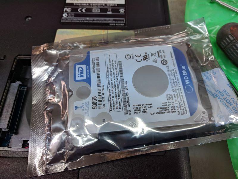 Cambiar el hard drive de un laptop
