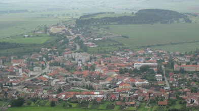 Photo: view of the Slovakian countryside from Spies Castle