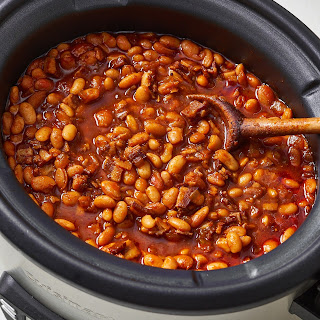 Brown Sugar & Bacon Slow Cooker Baked Beans.
