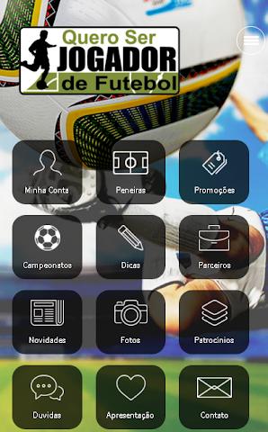 android Quero ser Jogador de Futebol Screenshot 0
