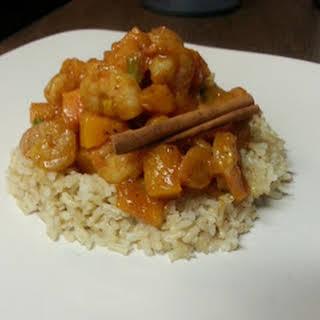 Shrimp & Butternut Moroccan Tagine.
