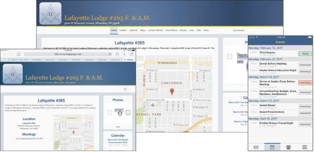Our Lodge Page App Image