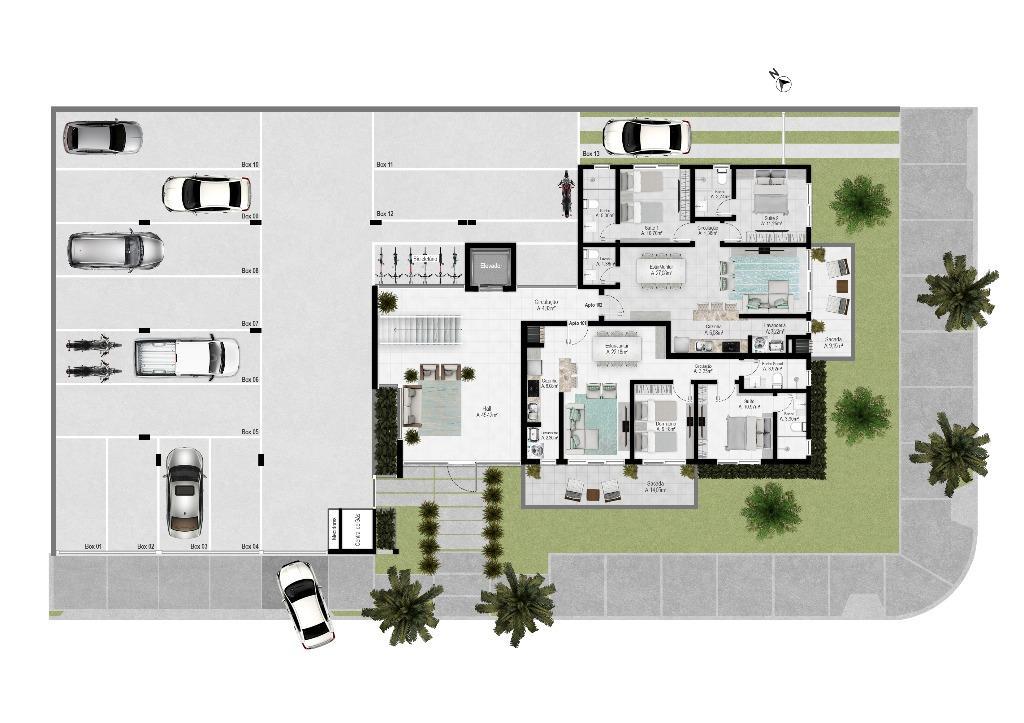 Apartamento com 2 dormitórios - Praia da Cal, Torres