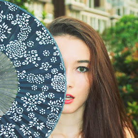 Perfectly imperfect by Emily Lei - Novices Only Portraits & People ( contrast, model, girl, russian, dress, house, fan )
