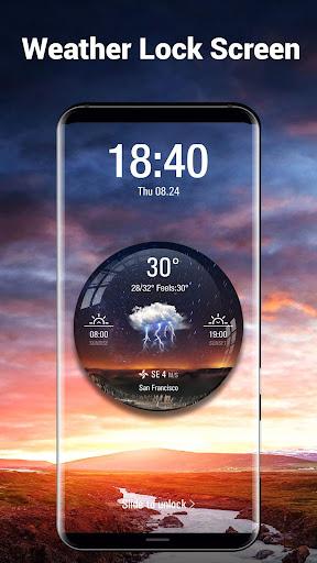 Transparent Weather Widget Raining  screenshots 7
