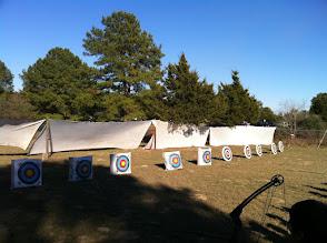 Photo: Brosig archery range; 2 of 4 curtains were on loan