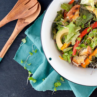 Roast Carrot and Avocado Salad with Orange and Lemon Dressing