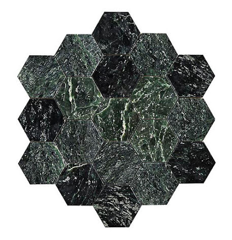 Hexagon Green Large Marble Polished