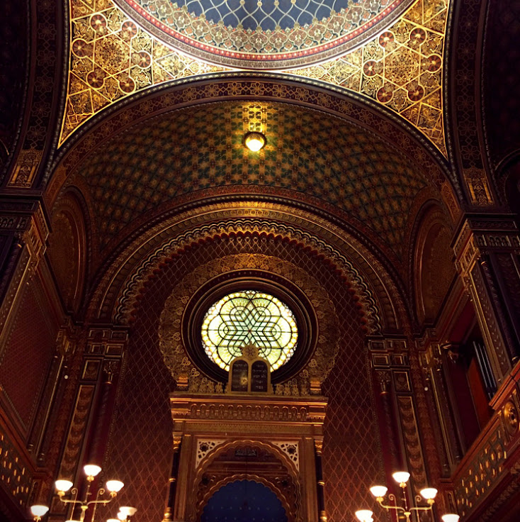 Inside the Spanish Synagogue.