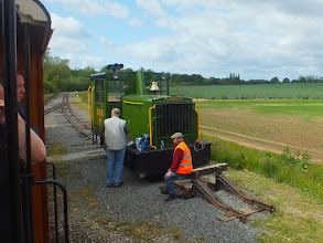 """Photo: 016 Out on the """"main line"""" is a refuge siding where this attractive and powerful looking Plymouth diesel loco sat for the day, on call out duty as a rescue loco. As far as I am aware, it wasn't called into action at all during my visit ."""